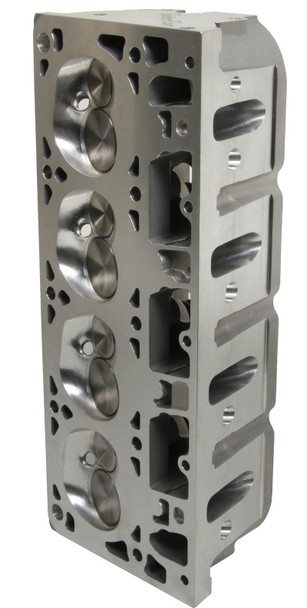 Trick Flow GenX® 215 cathedral port cylinder heads are fully CNC-machined to significantly increase the performance of 5.7L LS1 engines. Trick Flow engineers altered the valve angles from 15° to 13.5° to decrease valve shrouding, increase mid-lift airflow, and improve rocker arm-to-valve cover clearance. Top-of-the-line CNC Competition Ported runners have a premium high resolution surface finish for maximum flow and performance. The spark plugs were relocated in the CNC-profiled combustion chambers to enhance mid-lift airflow and increase the rigidity of the casting for extreme horsepower applications. Material was added at the rocker arm mounting points to increase high-rpm valvetrain stability.  Cylinder Head Style:Assembled Cylinder Head Material:Aluminum Intake Port Shape:Cathedral Intake Valve Diameter (in):2.040 in. Cylinder Head Finish:Natural Combustion Chamber Volume (cc):64 CNC-Machined Combustion Chamber:Yes Intake Runner Volume (cc):215cc Exhaust Runner Volume (cc):80cc CNC-Machined Intake Runner:Yes CNC-Machined Exhaust Runner:Yes Combustion Chamber Style:Heart Intake Port Location:Standard Exhaust Port Shape:Oval Exhaust Port Location:Standard Spark Plug Style:Angle Intake Valves Included:Yes Exhaust Valves Included:Yes Exhaust Valve Diameter (in):1.575 in. Valve Springs Included:Yes Maximum Valve Lift (in):0.600 in. Outside Diameter of Outer Spring (in):1.300 in. Damper Spring Included:No Number of Springs Per Valve:Dual Retainers Included:Yes Retainer Material:Chromoly steel Locks Included:Yes Lock Style:7 degree Valve Stem Seals Included:Yes Rocker Arm Studs Included:No Rocker Arms Included:No Rocker Arm Nuts Included:No Guideplates Included:No Valve Cover Mounting Style:Centerbolt Accessory Bolt Holes Drilled:Yes Intake Valve Angle:13.50 Exhaust Valve Angle:13.50 Valve Guides Included:Yes Valve Guide Material:Bronze Valve Seats Machined:Yes Valve Seat Machine Style:3-angle Valve Seat Material:Ductile iron Steam Holes Drilled:No Oiling Style:Through