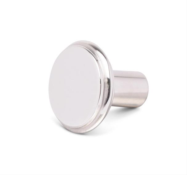 Dash Knob Material: Billet aluminum Dash Knob Finish: Clear powdercoated Quantity: Sold individually. Notes: Knob has a 10-32 thread.