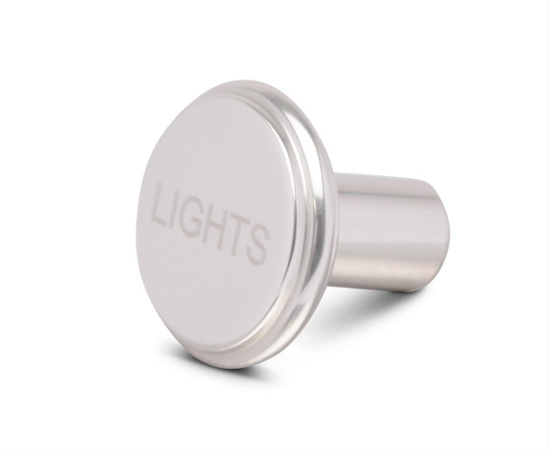 Dash Knob Material: Billet aluminum Dash Knob Finish: Clear powdercoated Quantity: Sold individually. Notes: Knob has a 10-32 thread.