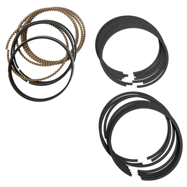 Do it right with these Pro LS forged piston rings. These replacement ring sets serve a variety of important roles, including sealing the combustion chamber, improving heat transfer from the piston to the cylinder wall, and regulating engine oil consumption.  •Bore (in): 3.780 in.                                                             •Bore (mm): 96.012mm                                                             •File Fit: Yes                                                             •Gapless: No                                                             •Top Ring Included: Yes                                                             •Top Ring Thickness: 1.5mm                                                             •Top Ring Material: Steel                                                             •Top Ring Facing Material: Plasma-moly                                                             •Second Ring Included: Yes                                                             •Second Ring Thickness: 1.5mm                                                             •Second Ring Material: Ductile iron             •Second Ring Facing Material: Ductile iron                                                             •Oil Ring Included: Yes                                                             •Oil Ring Thickness: 3.0mm                                                             •Oil Ring Tension: Standard                                                             •Oil Ring Tension Rating: 13 lb.                                                             •Oil Ring Material: Stainless steel                                                             •Quantity: Sold as a set.                                                             •Notes: Max. radials are 0.152 in. top, 0.169 second.