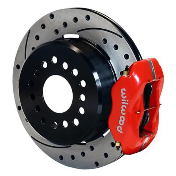 Disc Brakes, Rear, Dynalite, Cross-Drilled/Slotted Rotors, 4-Piston Calipers, Big Ford New Style Housing End