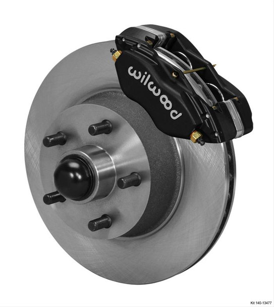 Disc Brakes, Classic Series Dynalite, Front, Solid Surface Rotors, 4-piston Black Calipers, Ford, Mercury, Kit