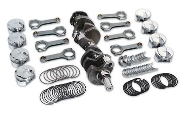 Engine Rotating Assembly, Competition, Steel Crank, Forged Pistons, I-Beam Rods, Chevy, 403 Small Block, Kit