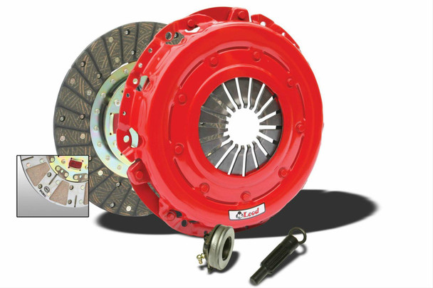 Clutch Kit, Super StreetPro, Organic, Ceramic, 1 1/8 in. Diameter Shaft, 26-Spline, 11 in. Diameter Disc, Kit  McLeod Super StreetPro clutch kits are great Street/Strip performance clutches—perfect for use with moderate engine modifications, including intake and exhaust upgrades, camshaft and cylinder head work, and engine management programming. Super StreetPro kits provide a heavier pedal effort than stock, along with improved holding capacity, making these excellent high performance replacement clutches.  Additional features and benefits include:  * SFI-approved assembly * Handle up to 500 hp * Dual-faced organic and ceramic disc for smooth engagement with exceptional holding capacity * Kits include a pressure plate, disc, throwout bearing (unless specified otherwise), and alignment tool