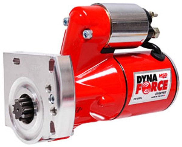 Gear reduction of 4.4:1 improves torque for great cranking Three horsepower motor provides power for high compression engines Ball bearing supported armature and pinion gear Downsized design helps clearance issues with oil pans and exhaust Mount can be clocked to assist in mounting
