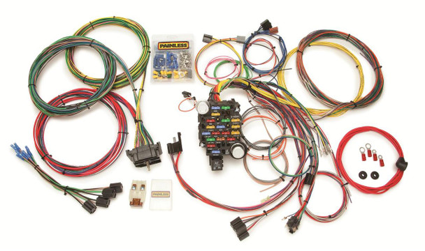 Nothing could make re-wiring your Chevy/GMC truck any easier than these Painless Performance harnesses. By adding a factory-style bulkhead connector and additional GM connectors, Painless made their universal harness a custom fit for these popular 2x4 and 4x4 GMC/Chevy pickups. These harnesses will work on pickups, Blazers and Suburbans. Free Shipping!