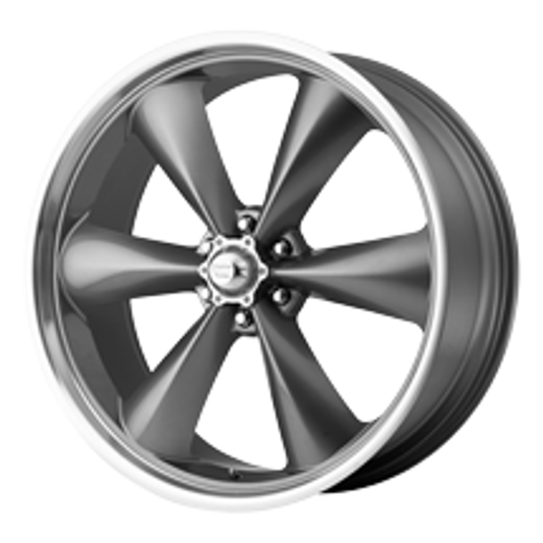 If you like American Racing's popular Torq-Thrust D wheels, then you'll love these American Racing Classic Torq-Thrust II wheels. The 2-piece alloy American Racing Classic Torq-Thrust II wheels are available with a gray painted center and polished rim and feature the same 5-spoke design as the Torq-Thrust Ds.