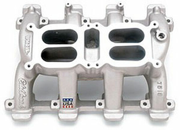"Small Block Gen III LS Series Engines Manifold Height: (A) 5.05"", (B) 5.64""Click here to determine carburetor pad height Uses LS1/LS6 style individual port o-ring seals. Designed for use with Edelbrock or Carter carburetors only. Recommended intake gasket; Fel-Pro 375-MS92438 Carburetor Recommendations: Edelbrock Thunder Series AVS or Performer Series carb, 500 cfm."