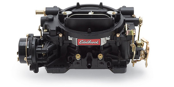 """(CALIBRATED FOR FUEL ECONOMY)  Designed for small-block and small displacement big-block engines, these carbs are recommended only for stock to Performer level applications. They are not recommended for use on RPM or Torker II intake manifolds. Match with an Edelbrock Performer or Performer EPS manifold or other brands of similar design. Calibrated 2% leaner than #1405. Includes both timed and full vacuum ports for ignition advance. Comes with: Metering Jets - Primary .098, Secondary .095; Metering Rods - .075 x .047; Step-Up Spring - yellow (4"""" Hg). Use Carb Studs #8008 or #8024 if needed. Black Finish"""
