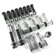"""Putting a lot of horsepower through your rear end? This Heavy Duty Universal Parallel 4-Link Kit is stronger than the rest!  With the same .156 wall tubing that is the standard in drag racing applications, this full-sized 4-link kit will remain straight and perfectly aligned under even the most demanding applications. This adjustable 4-link features extra long 28 inch bars and provides you with the maximum in suspension travel and adjustability. Brass sleeved bushings guarantee a lifetime of squeak-free operation. Completely TIG welded for maximum strength. All mounts are cut from 3/16"""" plate.  Special adjustable CNC machined threaded rod ends are thicker than usual and thread over 2.5 inches into the 4-link tubes for both strength and adjustability. Fully plated mounting hardware included."""