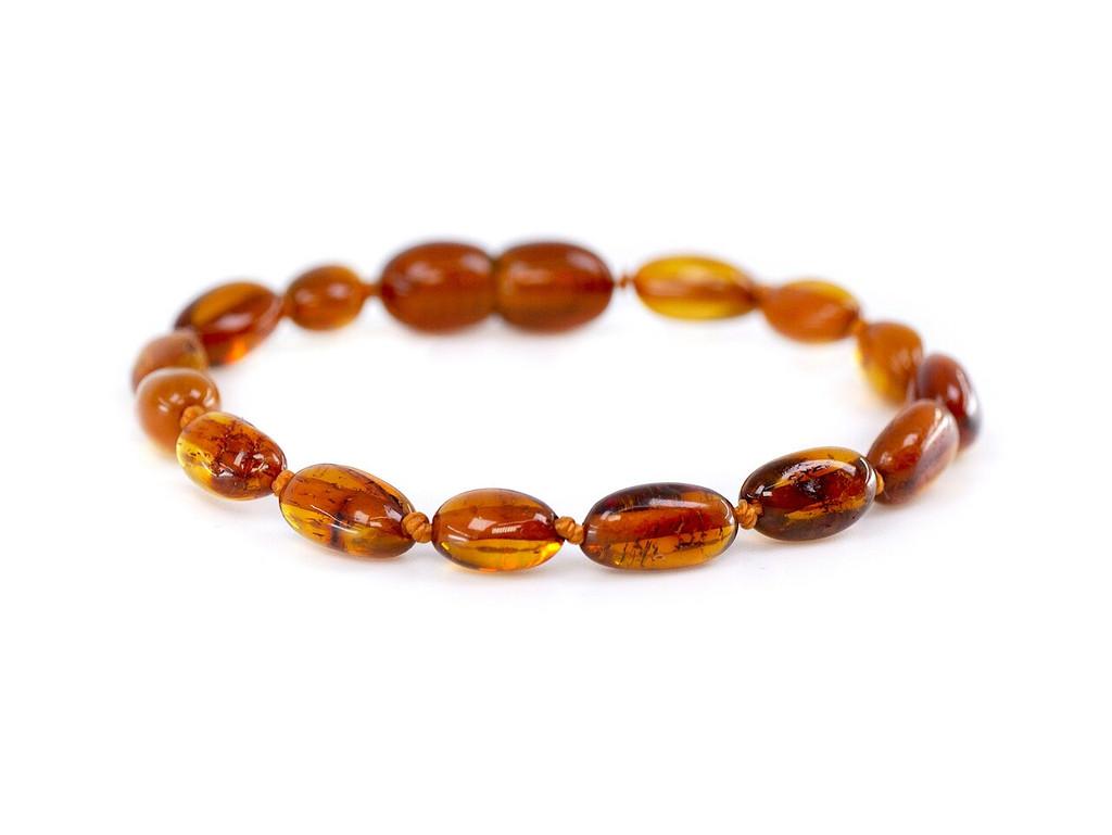 Cognac polished amber teething bracelet