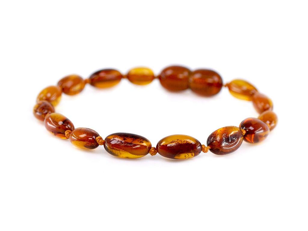 Cognac olive amber teething bracelet
