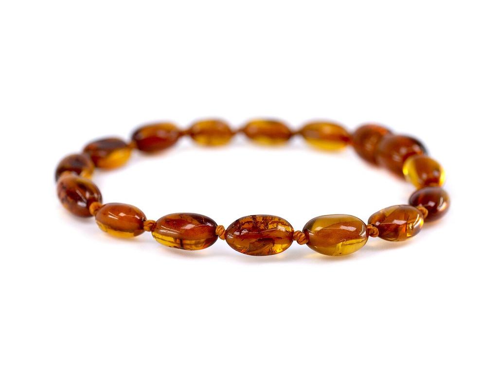 Cognac beads amber teething bracelet / anklet