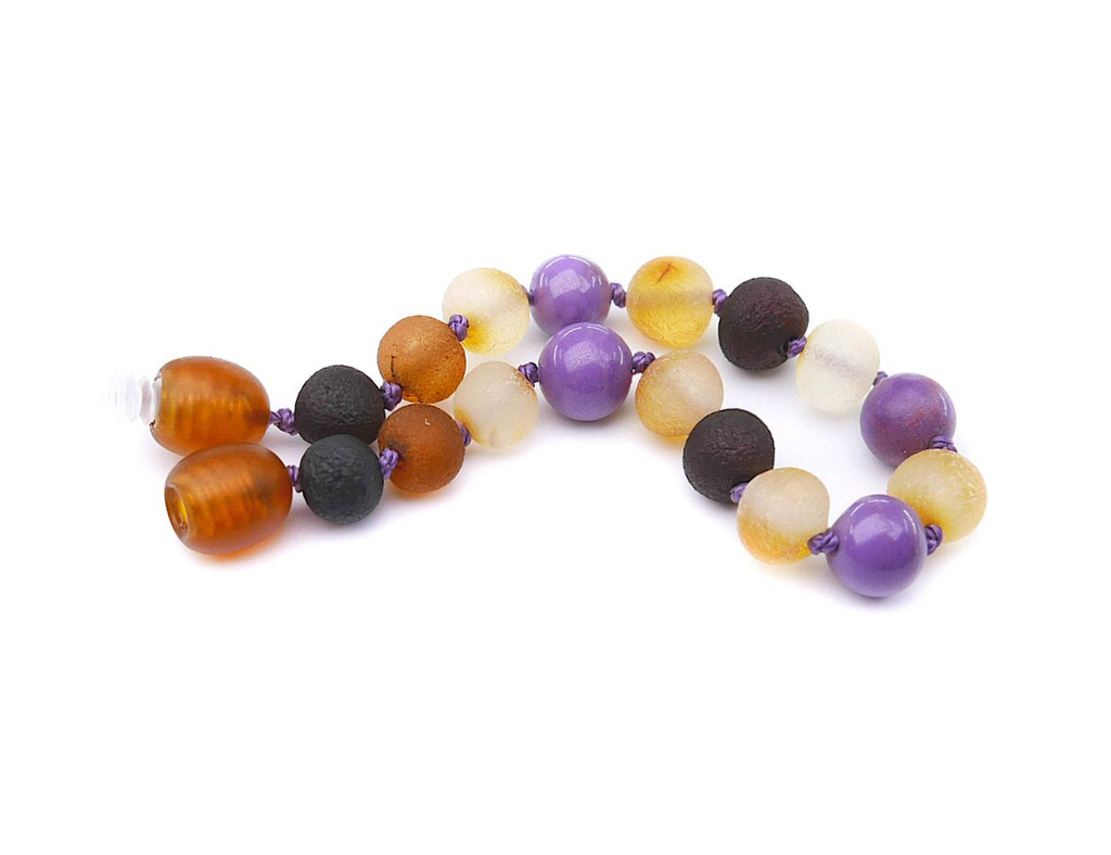 Phosphosiderite amber teething bracelet