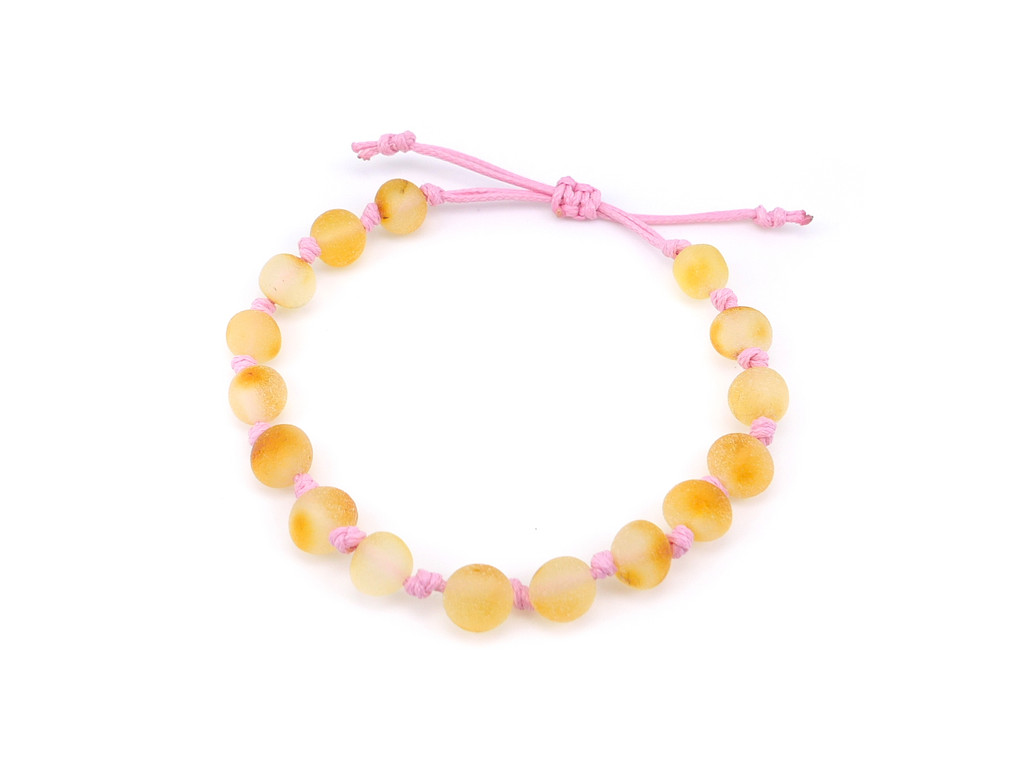 Adjustable amber teething & colic anklet / bracelet - maximum strength raw unpolished baroque beads