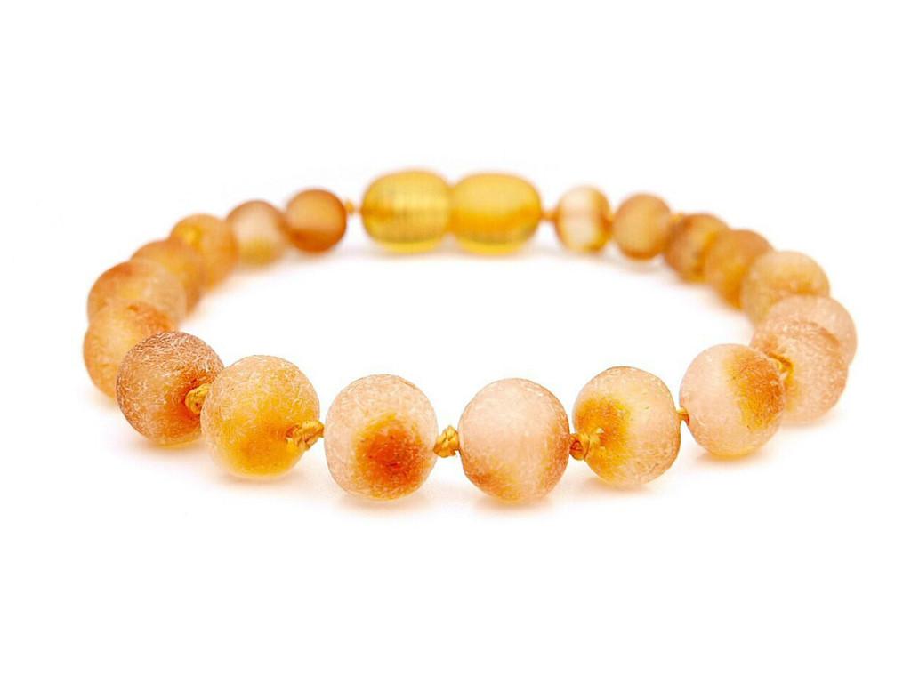 Honey raw amber teething bracelet