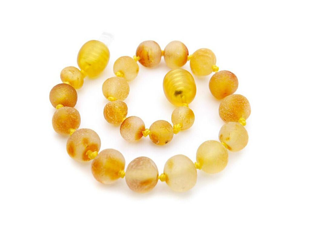 Honey raw unpolished amber teething bracelet