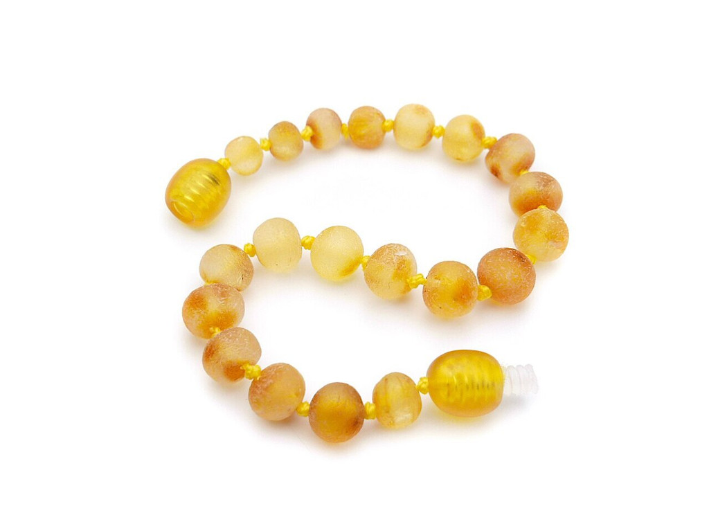 Amber teething bracelet or anklet, GERD, reflux and colic / maximum strength raw honey beads