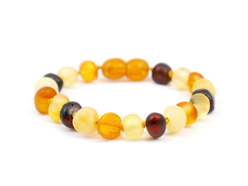 Amber teething bracelet or anklet, reflux and colic / maximum strength raw beads