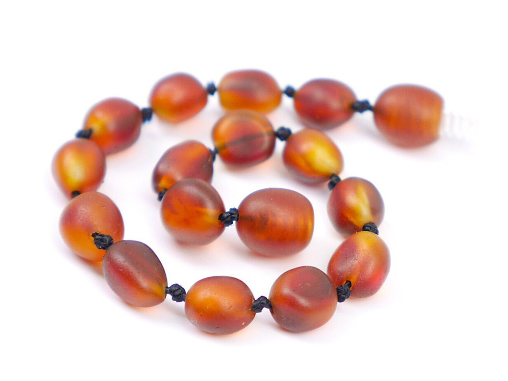 Maximum strength luxury raw amber teething, reflux and colic anklet / bracelet