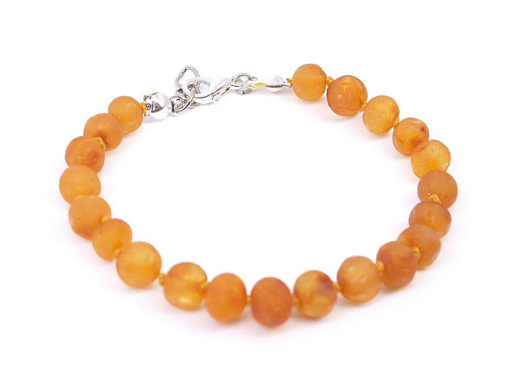 Adjustable amber teething bracelet