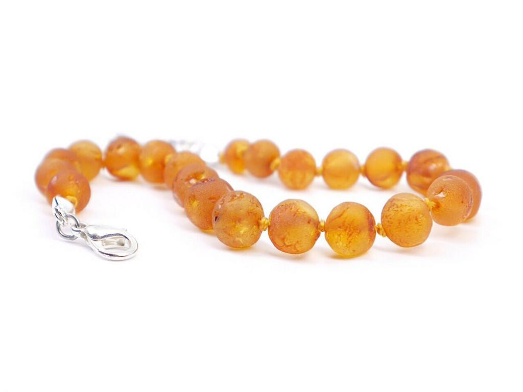 Amber teething bracelet adjustable raw unpolished