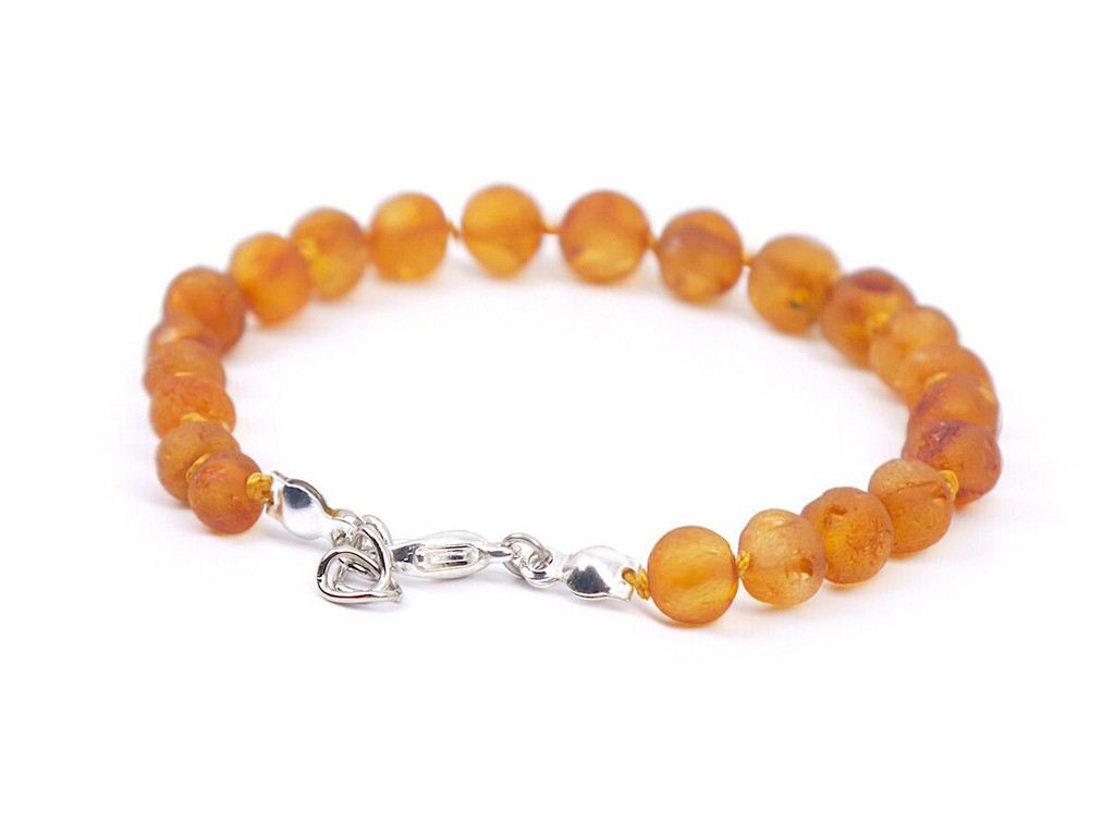 Adjustable amber teething anklet for babies