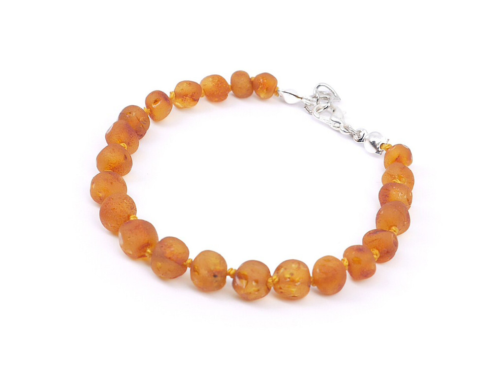Adjustable amber teething bracelet or anklet, reflux & colic / maximum strength raw beads