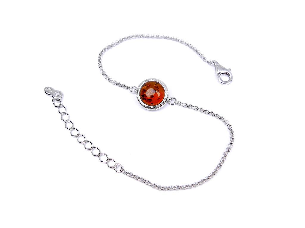 Adjustable Baltic amber ball bracelet