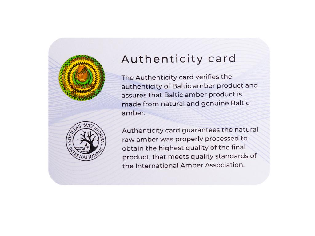 Certified Baltic sea amber