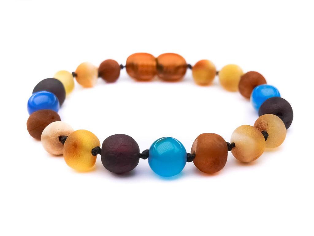 Agate amber teething bracelet