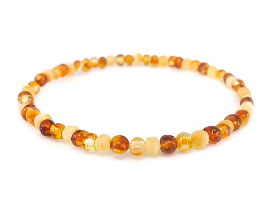Stretch adult amber anklet