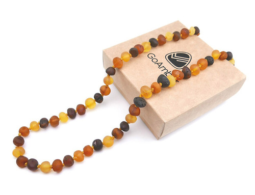 Maximum strength raw amber teething, reflux & colic necklace
