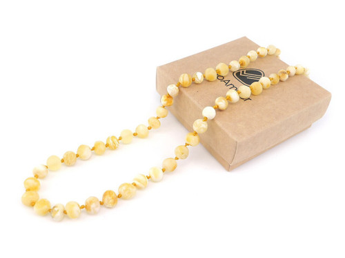Butterscotch maximum strength raw amber teething & colic necklace
