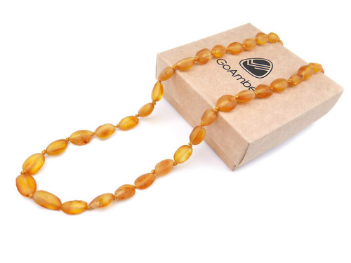 Maximum strength raw beans amber teething necklace, reflux & colic