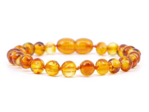 Honey amber teething bracelet