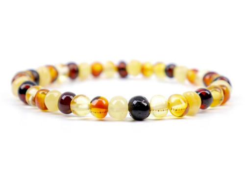 Multicolor adult amber bracelet