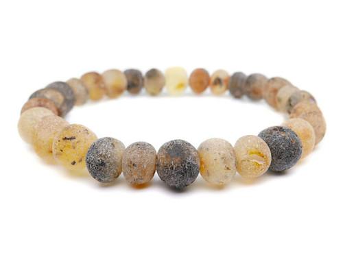 Raw adult amber bracelet