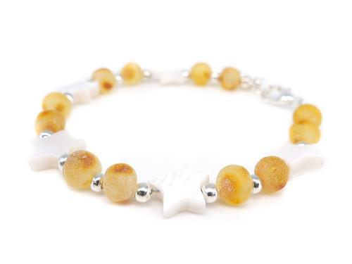 Adult raw healing amber bracelet