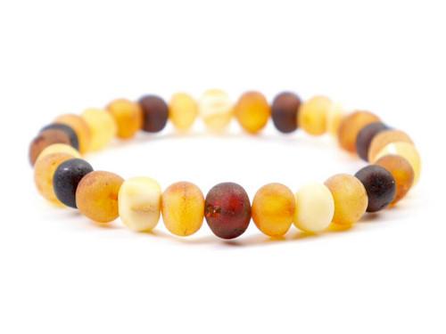 Raw healing adult amber bracelet