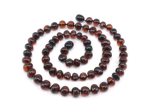 Dark cherry adult amber necklace