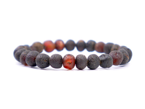 Maximum strength dark cherry stretch amber teething and colic anklet