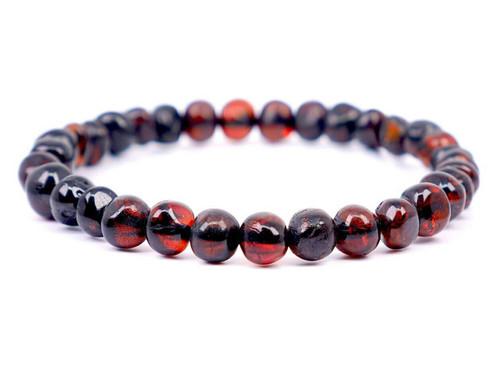 Dark cherry adult amber bracelet
