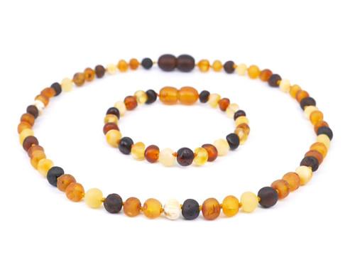 Raw amber teething set