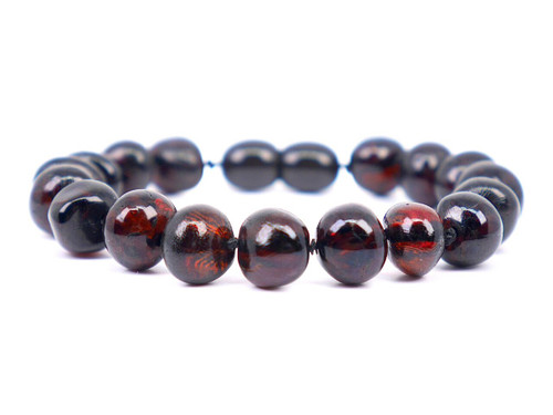 Luxury 7 mm baroque beads amber teething and colic anklet / bracelet
