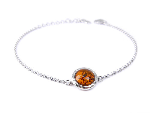 Adjustable Baltic amber ball bracelet