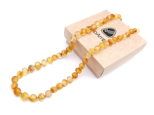 Maximum strength honey raw amber teething, reflux and colic necklace
