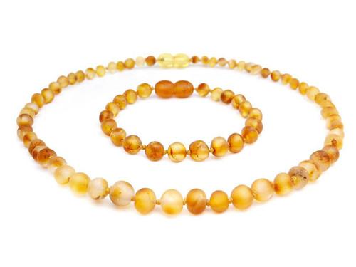 Amber teething set honey raw beads