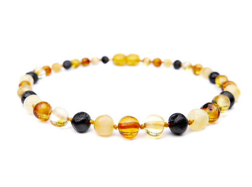 Adult amber anklet multicoloured