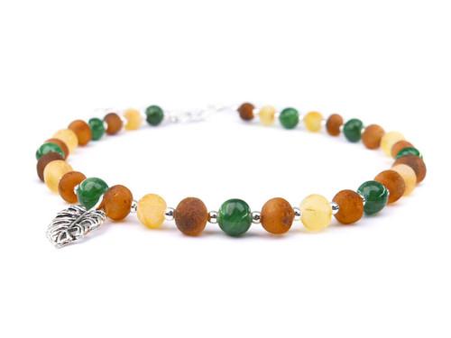 Jade adult amber anklet
